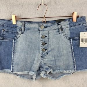 STS Blue Sz 31 Two-tone Denim Shorts